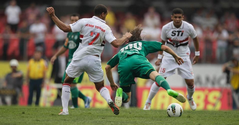 Resultado de imagem para São Paulo atropela o Palmeiras no Morumbi - Campeonato brasileiro de 2012