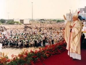 Em 1991, João Paulo II nos deu sorte