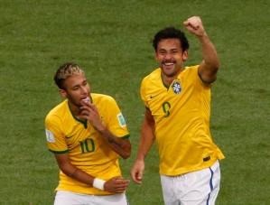 O artilheiro Neymar e o sortudo Fred