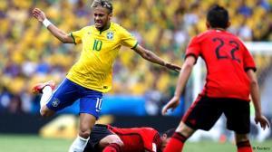 Não deu pro 'loiro' Neymar